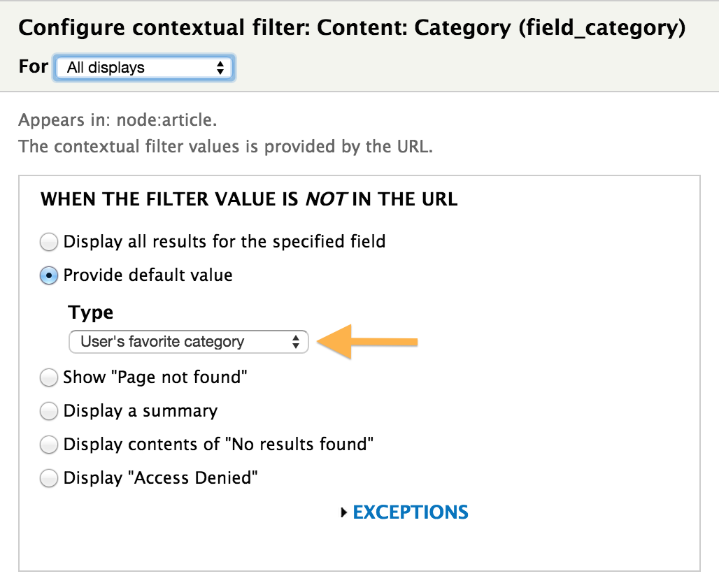 Providing Default Values for Views' Contextual Filters | Cryptic Zone